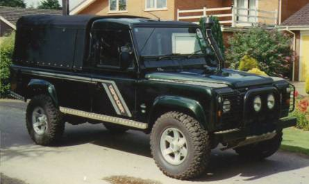 "Land Rover 110"" 3/4 in Mohair"