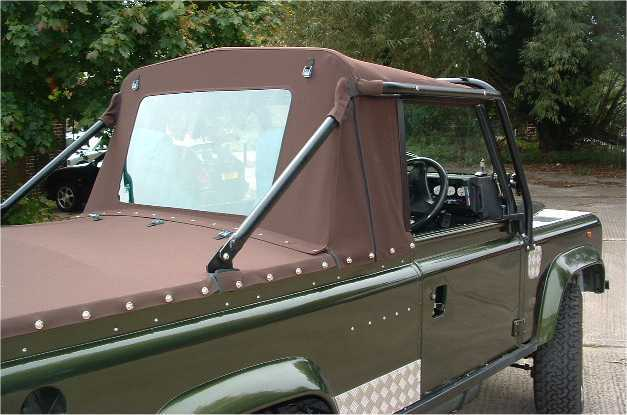 Land Rover 100 Hybrit SV Defender Mohair Truck-Cab and Tonneau Cover