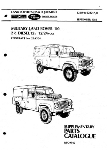 Military LAND ROVER 110 9/1986