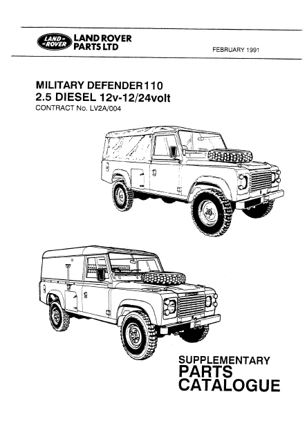 Military LAND ROVER 110 2/1991