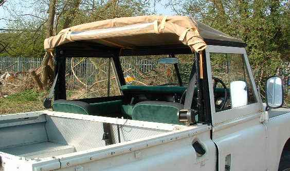 "Land Rover 88"" with open truck cab"